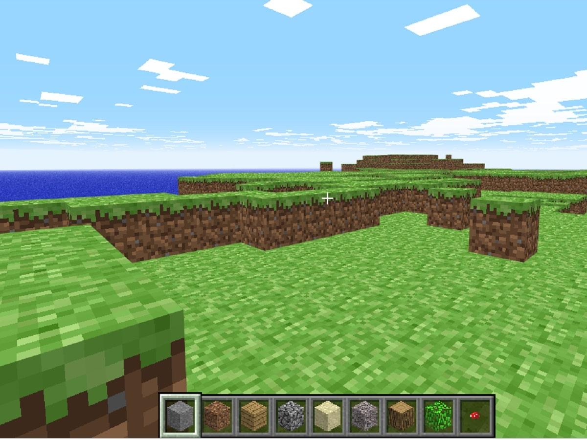 Minecraft Classicの画面の画像