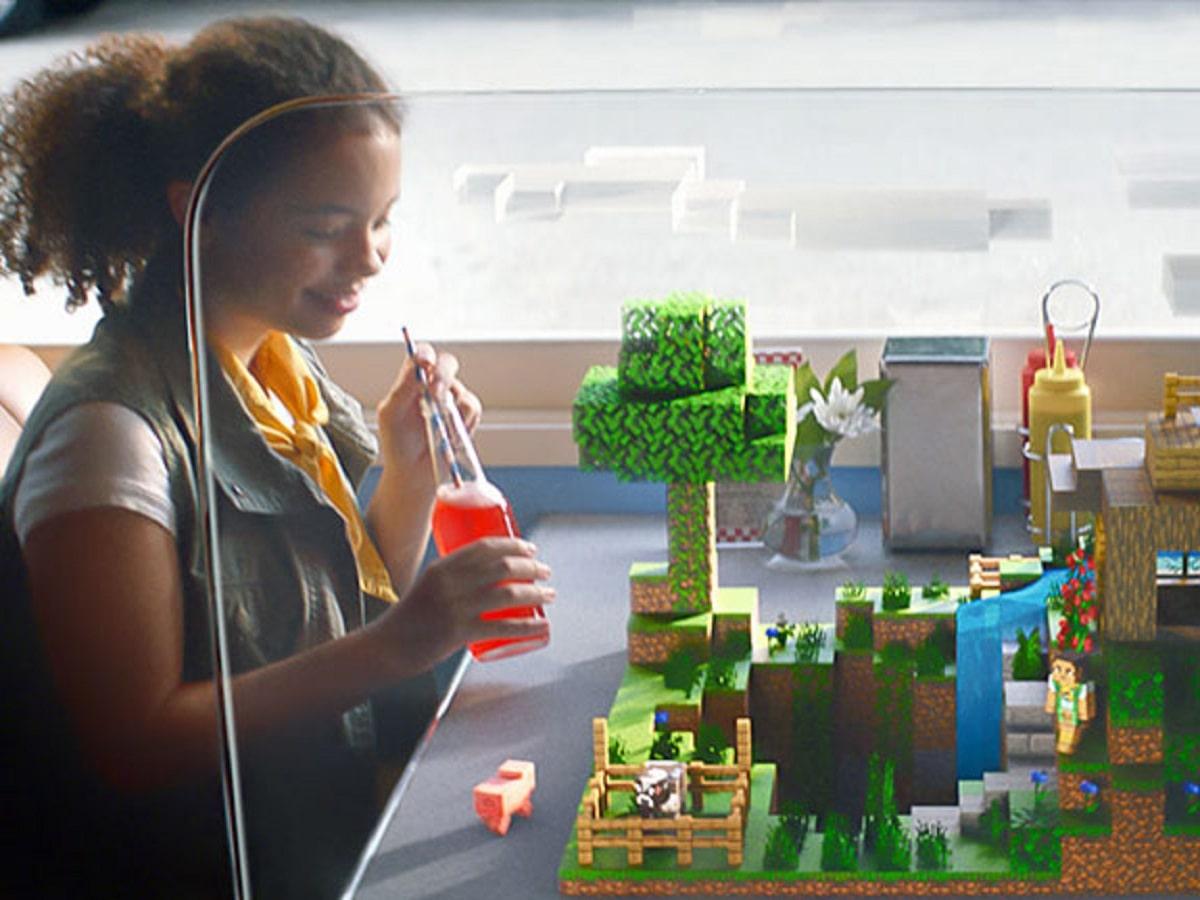 Minecraft Earth公式サイトの画像