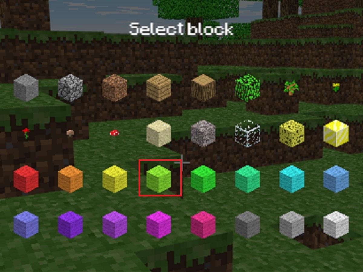 ブロックを選ぶ画像