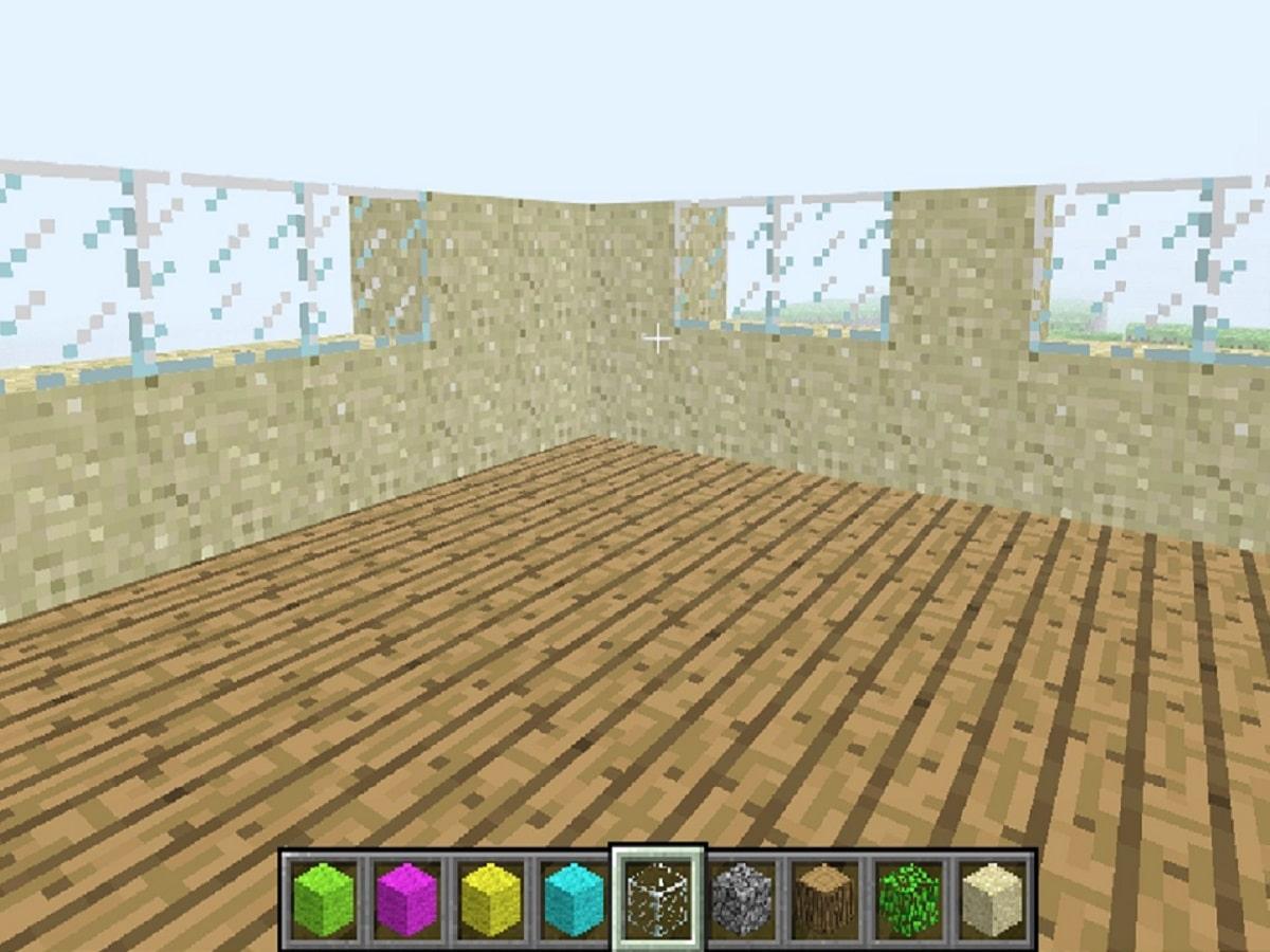 マイクラの家の作りかけの画像