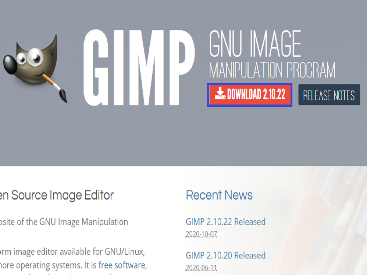 gimp2公式HPの画像